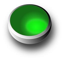 3D green Button