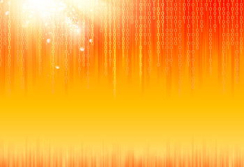 Abstract binary code background.