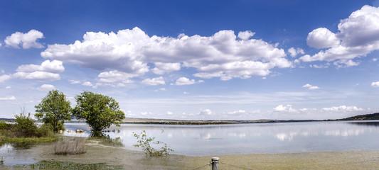 Panoramic lake. Manzanares el Real. Madrid. Spain