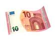 Leinwandbild Motiv Neuer 10 Euro-Schein