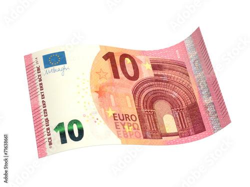 Leinwanddruck Bild Neuer 10 Euro-Schein