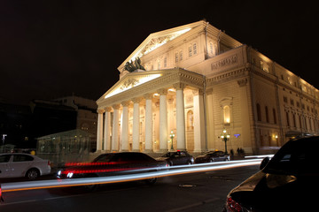 Bolshoi Theatre in Moscow, night view