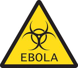 Illustration of sign of Ebola biological hazard
