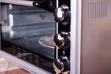 Electric Oven gray-black color