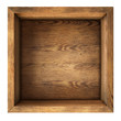 old wood box top view isolated - 71639848