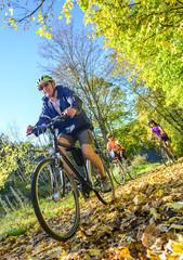 Radtour in herbstlicher Landschaft