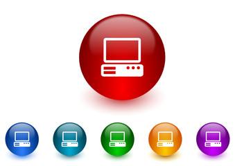 computer colorful vector icons set