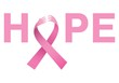 canvas print picture - Breast cancer awareness message of hope