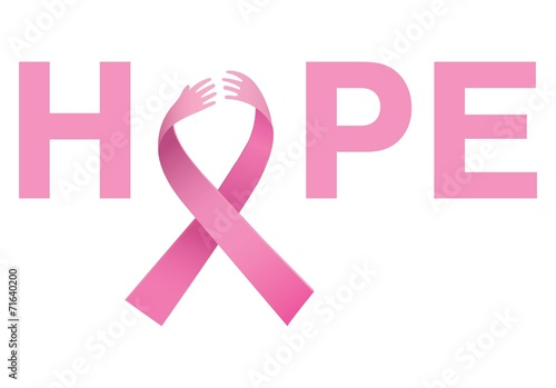 canvas print picture Breast cancer awareness message of hope