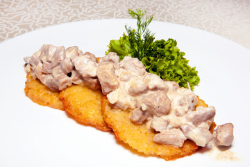 main dish, appetizer, potato pancakes,