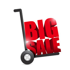 big sale hand truck illustration design