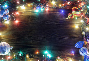 Frame of Christmas lights
