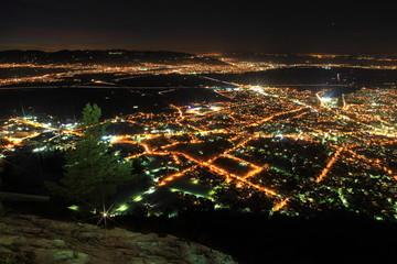 Luftaufnahmen bei Nacht