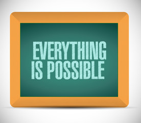 everything is possible sign illustration