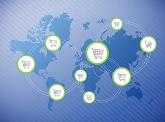 shopping destinations illustration