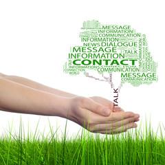 Conceptual tree contact word cloud