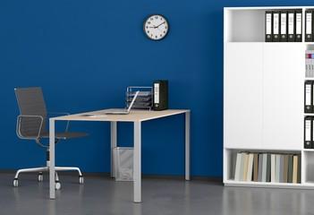 Blaues Bürozimmer