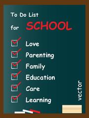 Vector conceptual to do list on blackboard