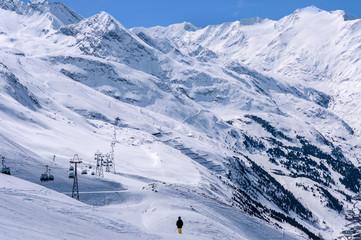 Ski center Obergurgl-Hochgurgl in Otztal Alps, Austria