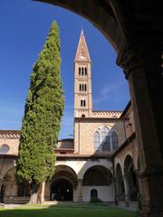 Claustro, Iglesia de Santa María Novella, Florencia, Italia