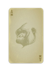 Poker card vector with gorilla