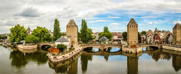 Gedeckte Bruecken in Strasbourg Frankreich