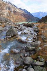 torrente nell'alta valle di Goschenen - Svizzera