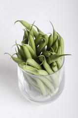 Grüne Bohnen im Glas