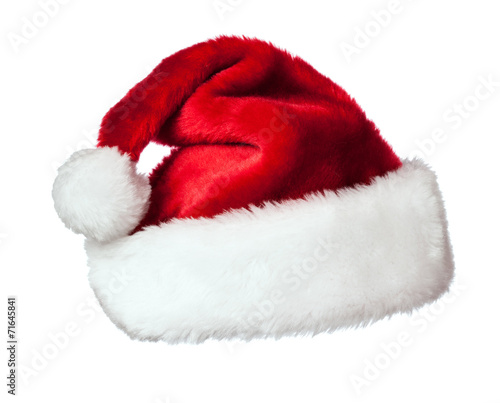Santa hat on white - 71645841