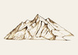 Sketch illustration of a mountain - 71646003