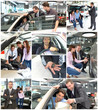 Collage Autohandel // Sales talk in the car trade