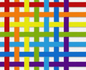 Fabric Weave Rainbow
