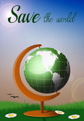 Globe for save the world