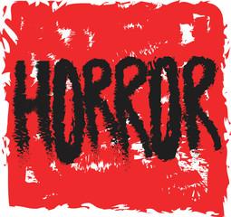 doodle horror on grunge bloody background