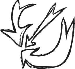 doodle arrow