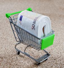 achats en supermarché