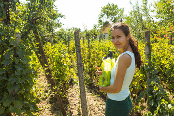 Girl in vineyard