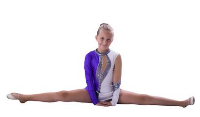 gymnast on twine