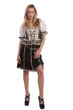Woman in Tirol oktoberfest dirndl or dress