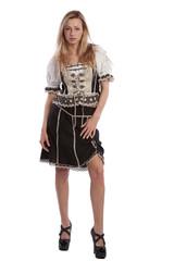 Woman in Tirol oktoberfest dirndl or dress