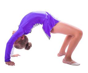gymnast standing on the bridge