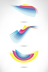 Design set of vertical modern backgrounds