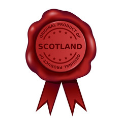 Product Of Scotland Wax Seal
