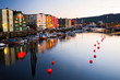 canvas print picture - Abend in Trondheim