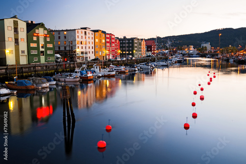 canvas print picture Abend in Trondheim
