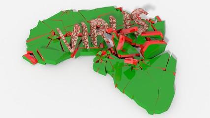 Africa colpita da virus