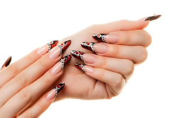 Nail design.Isolated.