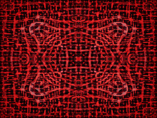 Black and red abstract pattern