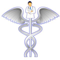 Simbolo medicina e dottore