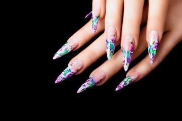 Art design female nails.